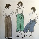 DIAMOND HEAD PARK BENCH #3  Ladies SARONG STYLE PANTS Pattern OS UNCUT