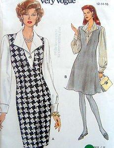 8416 Easy Vogue Jumper & Blouse Pattern sz 12-16 - 1992 UNCUT