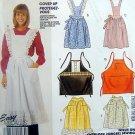 2819 APRONS Half -  Bibbed -  BBQ Apron -  Pattern UNCUT - 1986