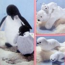 8509 Mom & Baby -  Penguins - Polar Bears - Seals - Animal Pattern - 1996 UNCUT