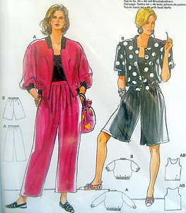 4843 Burda Ladies Jacket Pants Shorts Top Pattern UNCUT sz 10-20