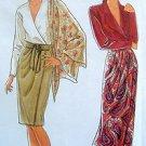 9825 Ladies Tapered  Wrap Skirt & Sash Pattern sz 10-20 - 1990 UNCUT