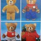 """Vintage 3105 Style Teddy Bear & Wardrobe Pattern 15"""" UNCUT -1980"""
