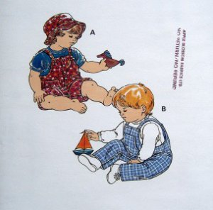 2568 Kwik Infant Overalls T-Shirt & Hat Pattern size S-XL UNCUT - 1998