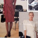 7582 Vogue Misses Asymmetrical Button Front Dress Pattern sz 8-12  UNCUT