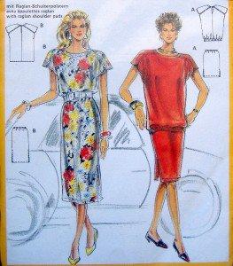 5797 Burda Skirt & Raglan Sleeve Top Pattern sz 10-20 UNCUT