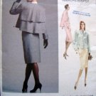 1957 Vogue BILL BLASS Jacket Skirt Pattern sz 10 UNCUT 1987