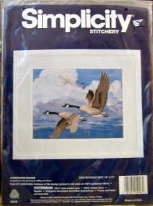 Simplicity Crewel Kit Canada Geese~ HOMEWARD BOUND ~ 14X11""