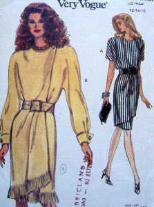 8564 Vogue Ladies Mock Wrap Dress Pattern sz 12-16 UNCUT 1993