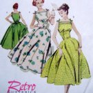 4513 RETRO 1957 Flared Skirt Dress Pattern sz 14-20 UNCUT
