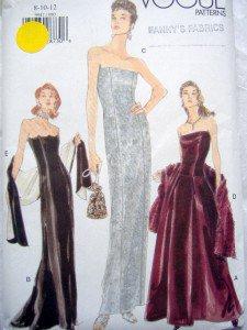 VOGUE 9947 Evening Gown Dress PATTERN sz 8-12 UNCUT 1998