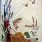 Vintage Creative Circle Crewel Kit  SPORTSMANS DREAM  Fisherman 12x16 1989