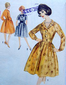 Vintage 4692 Ladies Full Skirt Raglan Sleeve Dress Pattern  sz 16