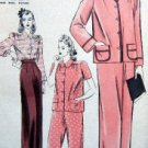 Vtg 565 Hollywood Priscilla Lane Pajama Pattern sz14 UNPRINTED