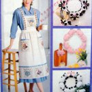 4164 Cow Pig Sheep Wreath & Apron Pattern  UNCUT - 1989