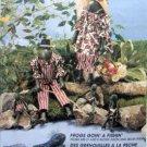 """7704 Fishing Frogs Pattern sz 21""""  UNCUT - 1995"""