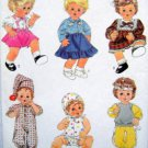 8376 Baby Doll Wardrobe Clothing Pattern SMALL UNCUT - 1987