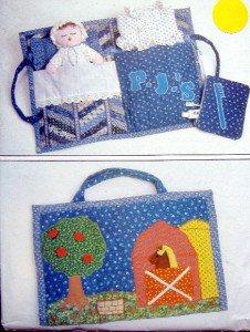4950 Childs Travel Bag & Doll  Pattern 12x17  UNCUT -