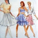7267 Vogue Ladies Easy Summer Flared Skirt Pattern sz 12-16 - 1988 UNCUT