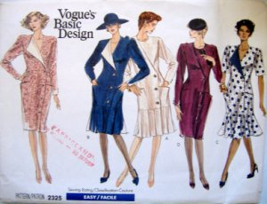 2325 Vogue Ladies Dress Wardrobe Pattern sz 6-10 UNCUT