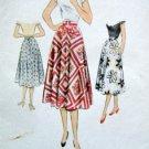 """8394 Vintage Ladies Skirt  Pattern Waist 26"""" - 1951"""
