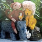 World of Animals Crochet Knitting Pattern Book - 1985
