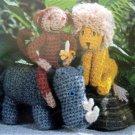 World of Animals Crochet Knitting Pattern Book - 1985