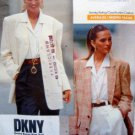 2373 DKNY Casual Jacket Pattern sz 12-16 UC