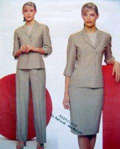 2461 ANNE KLEIN Jacket Skirt Pants Pattern sz18-22 UC