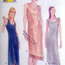 9843 Vogue Shaped Hemline Slinky Dress Pattern - sz 14-18 - 1998 UNCUT