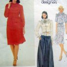 2749 Vogue ALBERT NIPON Blouse Skirt & Belt Flower Pattern sz 8 UNCUT