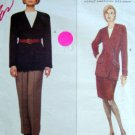 1228 Vogue ANNE KLEIN II Jacket Skirt Pants Pattern sz 12-16 UNCUT - 1993