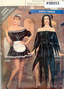 5800  SEXY FRENCH MAID ELVIRA Costume Pattern Size Adult 6-18 UNCUT