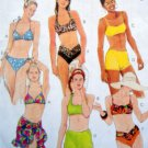 8813 Ladies 2 Piece Swimsuits Sarong Pattern  sz 8 UNCUT - 1997