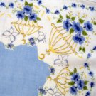 Vintage Flower Cages Handkerchief Hankie
