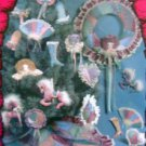 Kalico Kastle Christmas Crazy Quilt TREE SKIRT & ORNAMENTS Pattern UNCUT -