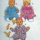 2230 Kwik Infant & Toddler Sleepers Jumpsuits  Pattern sz S-LX 1992 - UNCUT