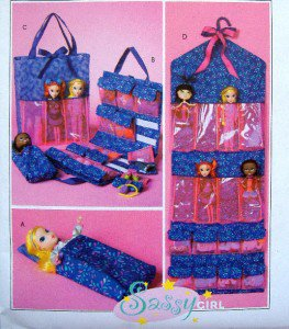 4739 Sassy Girl Fashion Doll Accessories Pattern  UNCUT