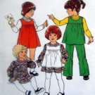 Vintage 2007 Toddler Girl Pinafore Dress Pants Pattern sz 1 UNCUT 1977