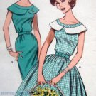 Vintage 9721 Slim & Full Skirted Dress Pattern sz 16 UNCUT