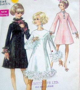 Vintage 7914 60's Dress Pattern sz 8  UNCUT - 1968