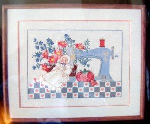 Vintage Dimensions Crewel Kit Sewing  ~ NOSTALGIA ~ 18X14 - Karen Avery - 1984
