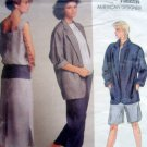 1522 Vogue PERRY ELLIS Jacket Dress Pants Shorts Pattern UNCUT sz 10 -1985