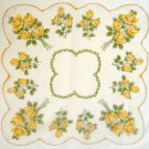 Vintage Handkerchief  Hankie ~ ROSE SPRAY BOUQUETS ~   16""