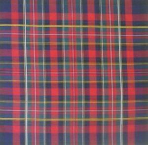"Vintage Handkerchief Hankie  ~ TARTAN ~  12"""