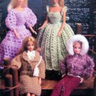 Vintage Annies Attic Barbie Fashion Doll Crochet Pattern Book - 1986