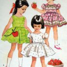 2030 Toddler Girl Full Skirt Dress  Pattern sz 3 1961