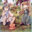 "6046 Boy & Girl BUNNIES & CLOTHING Pattern sz 22+"" UNCUT 1999"