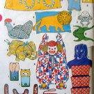 8895 Vintage Craft Pillows Bean Bags Bonnets Bags Pattern UNCUT - 1967