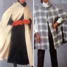 Vintage 8799 Nancy Heller Ladies Hooded Cape Pattern sz XS UNCUT - 1983